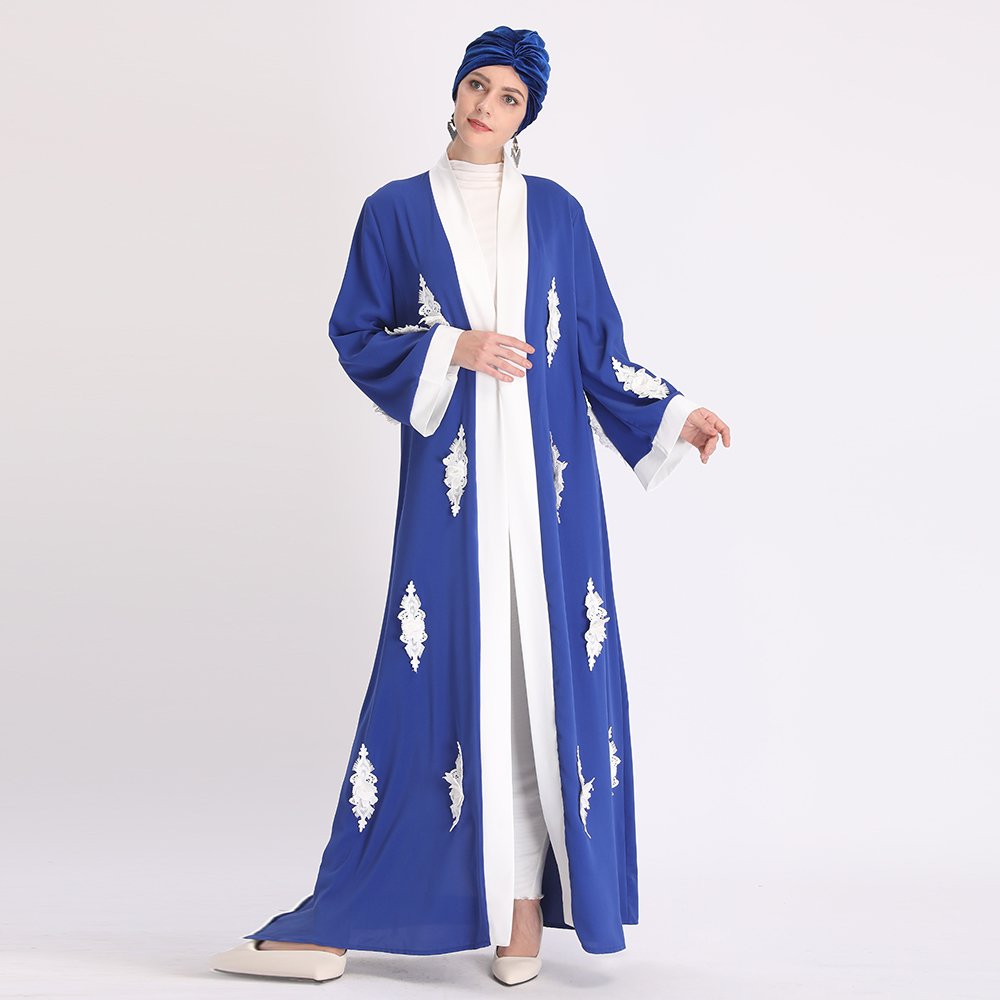 Ramadan Eid Mubarak Embroidery Abaya Turkey Kimono Cardigan Hijab Muslim Dress Islamic Clothing Abayas For Women Dubai Kaftan