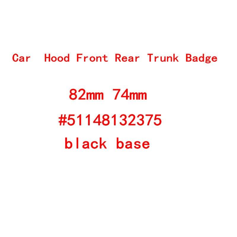 Черная Автомобильная Эмблема для E46 E39 E38 E90 E60 Z3 Z4 X3 X5 X6 51148132375, 82 мм 74 мм 45 мм