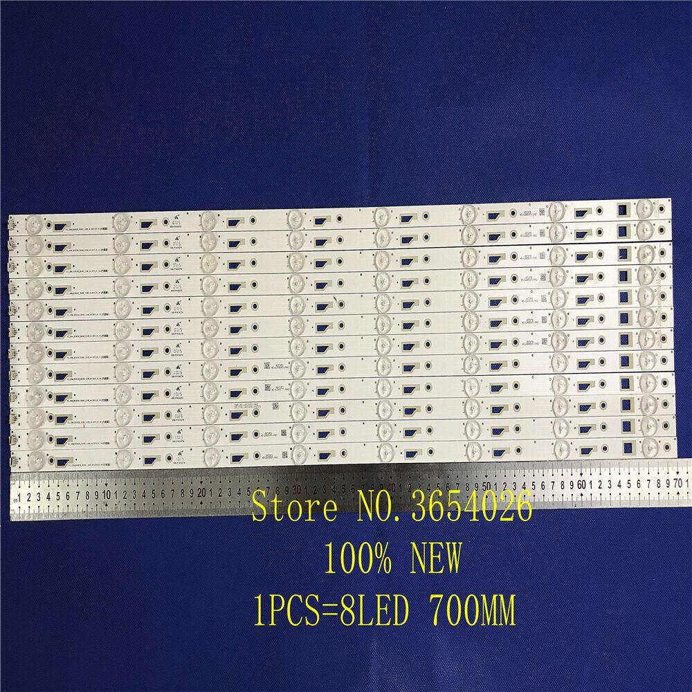 LED Backlight Strip 8 Lamp For Thomson 65UA6606 L65E5800A 4C-LB650T-YH3 LVU650CMDX 4C-LB650T-VH3 TCL_ODM_650d30_3030C_12X8 V4 V2
