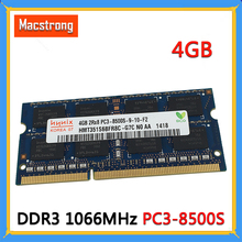 Original novo PC3-8500S 4gb 1.5v ddr3 1066 mhz para macbook pro a1278 a1286 ram SO-DIMM a1297 módulo de memória do portátil 2008-2010 ano