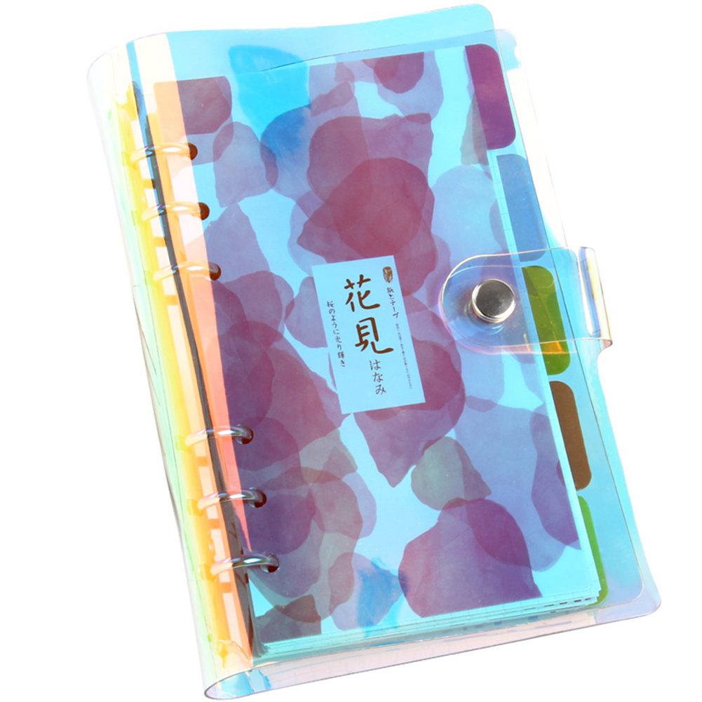 6 Holes PVC Binder Folder A5 A6 A7 File Cover For Journal Note Book Diary Notepad  Planner Agenda School Office Supplies