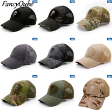 Male Cap Baseball-Cap Mesh Skull Dad Hats Hunting Army Camouflage Breathable Men Summer