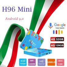 цены на Smart tv box brasil H96 mini H6 set-top boxes 6k H2.65 2.4G/5G Wifi HDMI 2.0 6k HD YouTube Media Player for android tv box  в интернет-магазинах