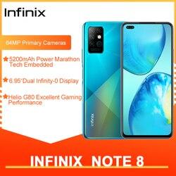 Смартфон Infinix Note 8 глобальная версия 6 ГБ 128 ГБ 6,95 дюйма HD + дисплей аккумулятор 5200 мАч 18 Вт Быстрая зарядка вертолет G80 Восьмиядерный
