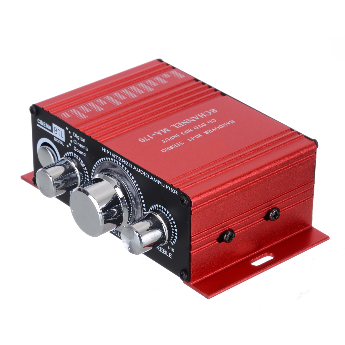 4 Ohm To 16 Ohm Red Stereo HiFi Amplifier MA-170 2 Channel 20Hz To 20KHz AMP For Computer Desktop Speaker