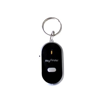 Smart Key Finder Anti-lost Whistle Sensors Keychain Tracker LED With Whistle Claps Locator image