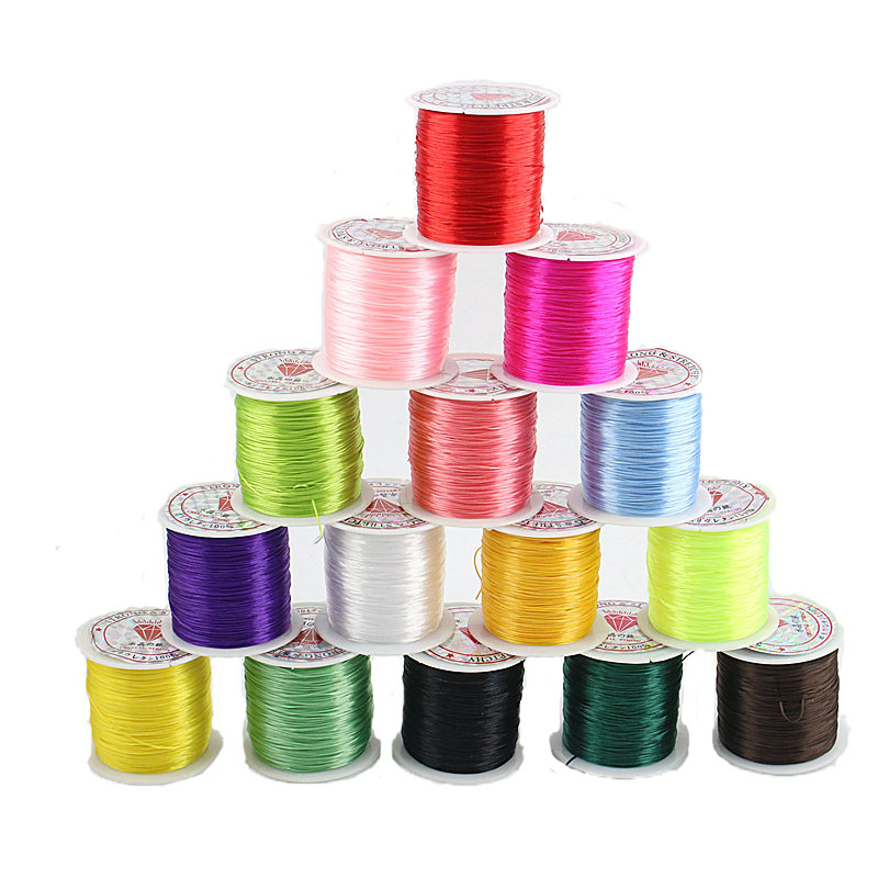 60M Color Elastic Line Elastic Crystal Line Making Jewelry Beaded Bracelet Fishing Line Rope