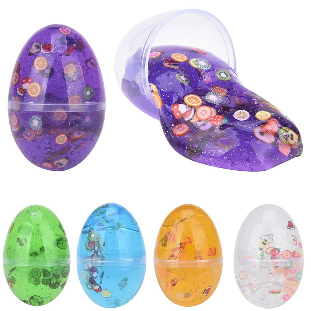 Egg Colorful Soft Slime Slime Scented Stress Relief Toy Sludge Toys  Plasticine Toys Kid Children Child Creativity Dropship