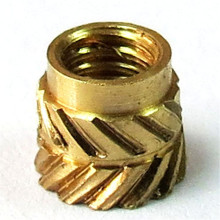 3000pcs IUB-0616-1/IUB-0616-1-2 Tapered Thru Threaded Inserts-Types IUA IUB IUC-Inch Brass Nature PEM Std Knurled Nut