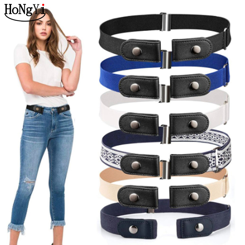Easy Belt Without Buckle Elastic Waist Belts For Women Men Fashion Stretch Riem Men Jeans Belt Kids Boys Girls