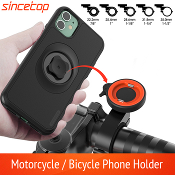 Motorcycle Phone holder For iPhone 11 Pro XsMax 8plus 7s 6 Mountain/Bike Moto Mount Cell Phone Bag Stand With Shockproof Case