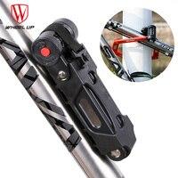 WHEEL UP Anti cut Safety MTB Folding Bike Lock Professional Anti theft Alloy Steel Foldable Bicycle Lock Keys Password|Bicycle Lock|Sports & Entertainment -