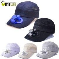 Zasilany energią słoneczną kapelusz wentylatora Camping piesze wycieczki czapka z daszkiem z zasilany energią słoneczną wentylator z daszkiem czapka z daszkiem wentylator chłodzący Cap lato kapelusze plażowe wielokolorowe w Wentylatory od AGD na