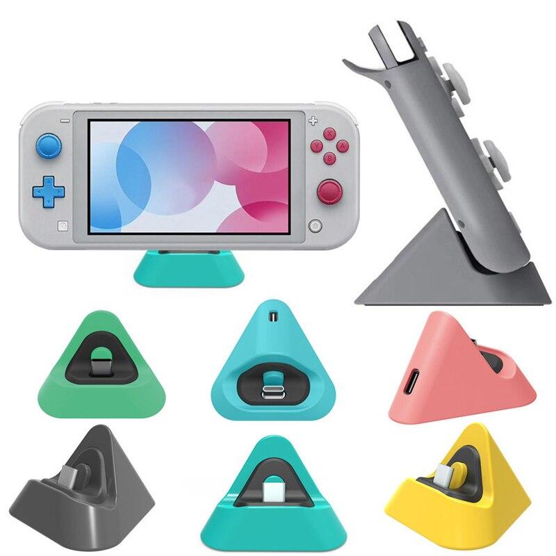 Портативный зарядная док-станция для Nintendo переключатель Lite Тип C Зарядное устройство Подставка 3 цвета Новый Зарядное устройство подставка ...