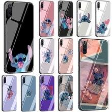 Cartoon Stitch Tempered Glass Phone Case for Xiaomi