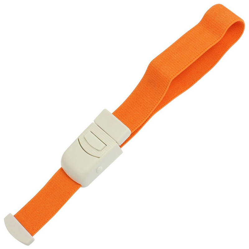 Orange Elastic Quick Release Emergency Buckle Tourniquet