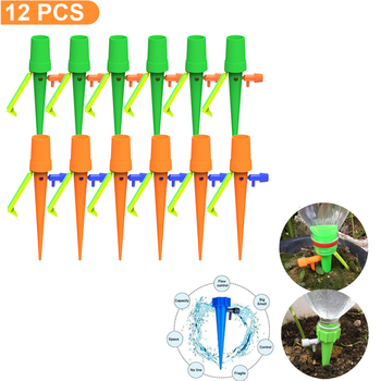 12PCS Automatic Irrigation Watering device for Plants Flower Indoor Household Auto Drip Irrigation Watering System Waterer watering system gardena 13001 20 000 00