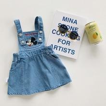 Disney roupas recém-nascidos do bebê macacão crianças menina cowboy vestido minnie mickey mouse onesies meninos cowboy estilingue calças bonito doce roupa