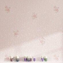 Coréen fleurs frais pastorale petit floral chaud salon de beauté non-tissé papier peint rose fille princesse chambre papier peint