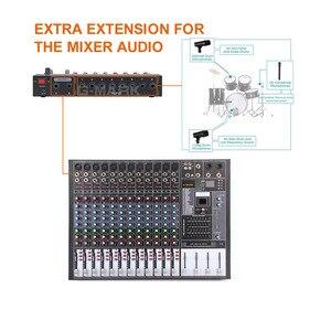 Image 3 - Mezclador de sonido estéreo profesional, 8 canales, consola de Karaoke, mezclador de DJ Digital con USB para micrófono, fiesta, PC, reuniones