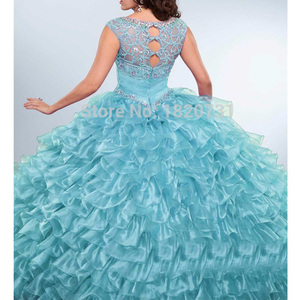Image 5 - New Light Purple Ball Gown Quinceanera Dresses Scoop Pleats Beaded Rhinetones Sweet 16 Dress For 15 Years Debutante Gown