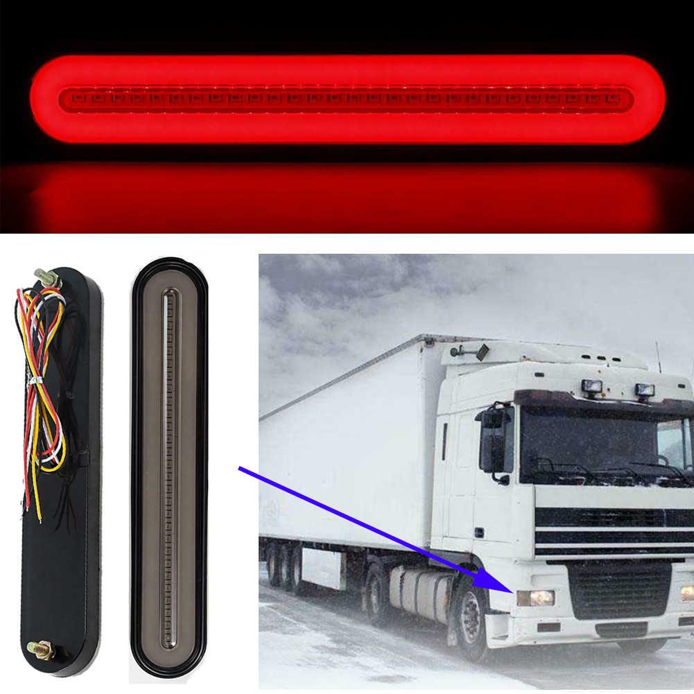 Sinal de volta led luz da cauda freio traseiro fluindo caminhão reboque 2835 smd ip67 substituição brilhante