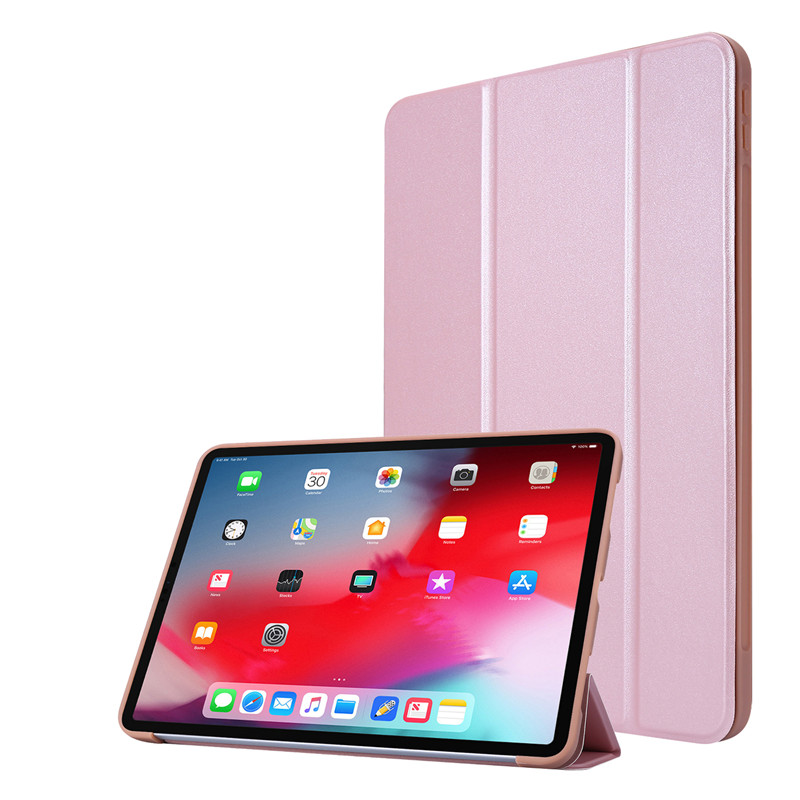 Rose Gold Green Cover Case For iPad 11Pro Case 2020 Tri fold PU Leather Smart Soft Silicone Case For