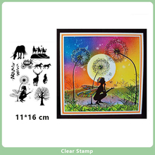 Clear Stamps for DIY Scrapbooking Card Fairy and Unicorn Transparent Rubber Making Album Photo Crafts Decor New