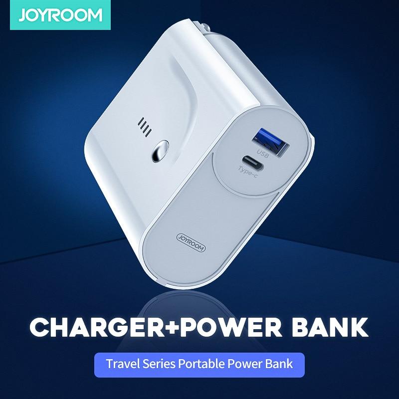 Joyroom, оригинальный внешний аккумулятор, 2в1, зарядное устройство для путешествий, 5000 мА/ч, внешний аккумулятор, портативное зарядное устройство, внешний аккумулятор|Внешние аккумуляторы|   | АлиЭкспресс