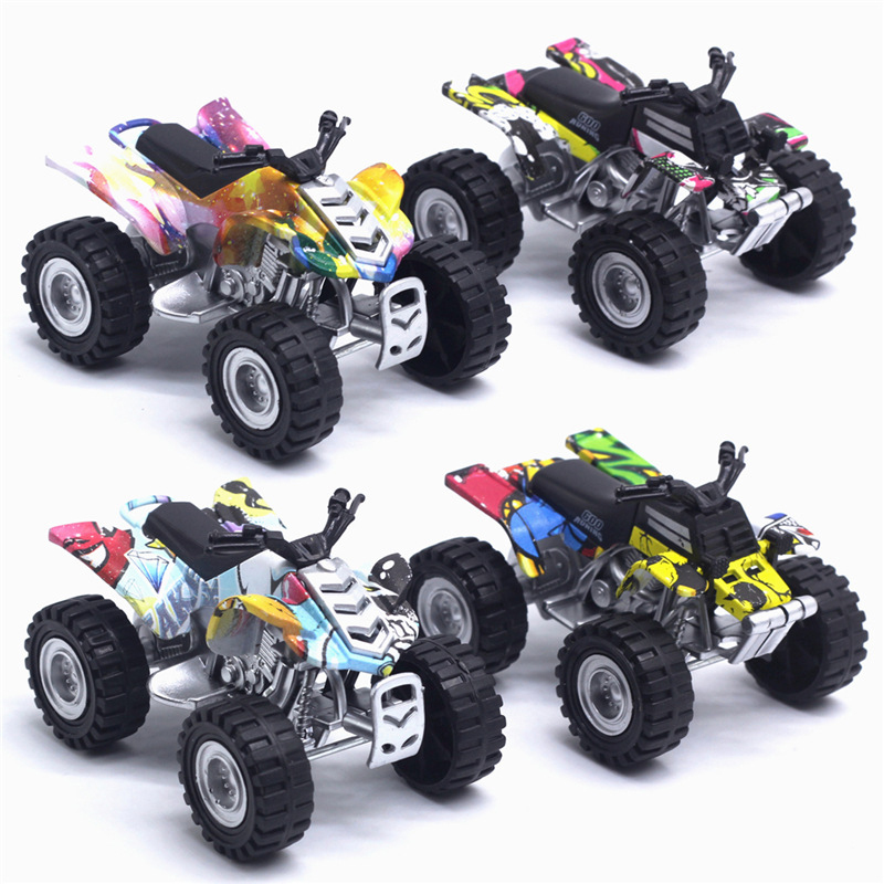1:50 Children Alloy Toy Pull Back Mini Car Inertia High Simulation 4 Wheels Motorcycle Beach Motocross Model Toys For Kid TY0542