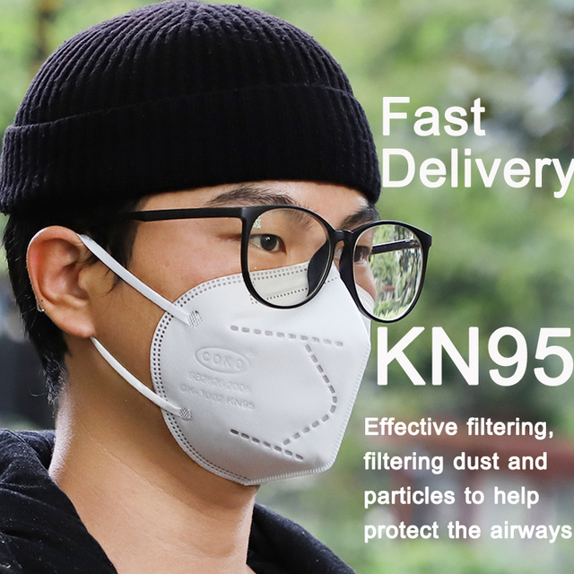 100PCS KN95 Safety Face Mask 5 ply Safety Mask Anti Dust Anti Pollution Flu Face Mask Unisex N95 Anti5 Anti-fog PM2.5 Mouth Mask