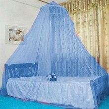 Cúpula cama dossel poliéster mosquito net princesa tenda bedcover cortina dobrável elegante rendas fadas dossel crianças quarto