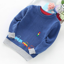 2020 New Boy Sweater Children Clothing Cars Pattern Knitted Sweater Baby Boy Pullover Sweater Knitwear 2 5T Kids Kids Sweaters