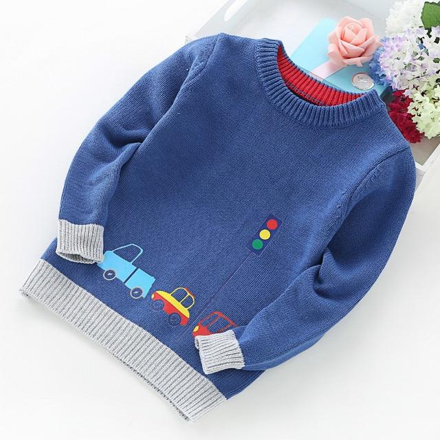 2020 ילד חדש ילדי בגדי מכוניות דפוס סרוג סוודר תינוק ילד בסוודרים סוודר סריגי 2 5T ילדים ילדים סוודרים
