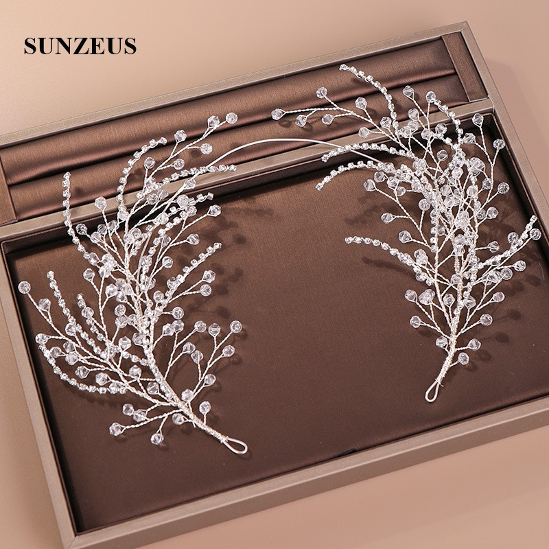 2019 Hot-selling Crystals Headband For Party Bridal Wedding Head Band Chain Marriage Accessories SQ424