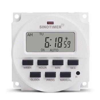 SINOTIMER 5/12/220V semanal 7 días programable Digital Time Switch relé temporizador Control para electrodoméstico 8 Configuración de encendido/apagado