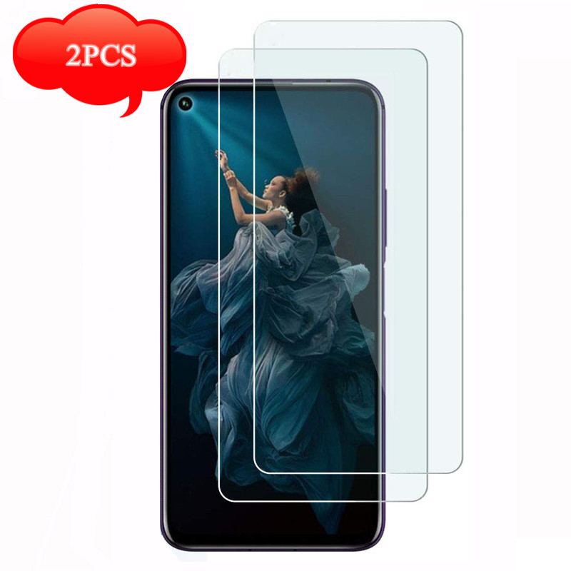 2PCS Safety Glass On Honor 20 Screen Protector Protective Glass For Huawei Honor View 20 V20 20i 20Lite Lite Light Sheet Film 9H