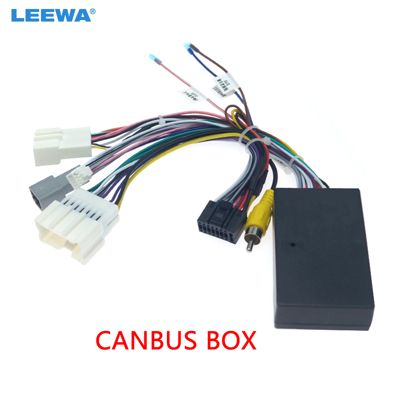 LEEWA Car Audio DVD Android 16PIN Power Cable Adapter With Canbus Box For Renault Captur Dacia Power Wiring Harness  #CA3324