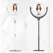 12inch Rotate 360 degrees Dimmable LED Selfie Ring Light ringlight Lamp Video Camera Phone Live Fill Light microphone stand(China)