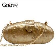 Gnirue Marke Mode Brieftasche Frauen Acryl Nette Lange Runde Abend Tasche Frau Solide Marmor Luxus Party Prom Handtasche Casual Kupplung