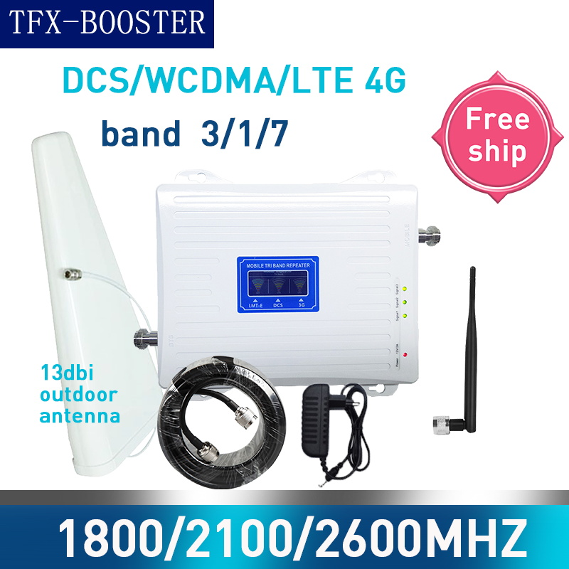 TFX-BOOSTER 1800/2100/2600 Mhz Tri-Band Mobile Cellular Amplifier 3G 4G Mobile Network Booster GSM UMTS LTE 1800/2100/2600mhz