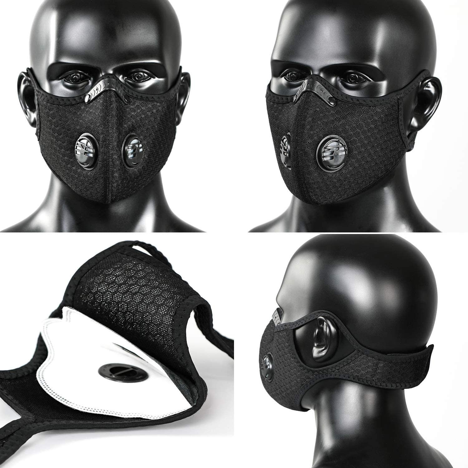 Mask Face Mask Masque Scarf 2020tops Dustproof Masks Activated Carbon Dust Mask With Extra Filter Cotton Sheet Mascherine Masks