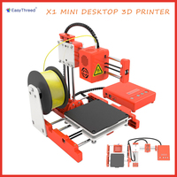 Easythreed X1 Mini Desktop 3D Printer 100*100*100mm Print Size One Key Printing Parent Child Education Gift TF Card PLA Filament