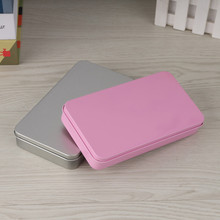 New Arrival Rectangle Silver and Pink Tea  Tin box   Trinket  Storage Box Jewelry Box  Case
