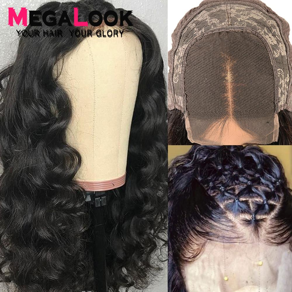 Loose Wave Wig Lace Closure Wig Human Hair Wigs For Black Women Closure Wig Brazilian 4x4 Preplucked Swiss Lace Megalook Remy