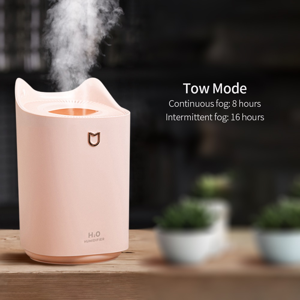 Obecilc Air Humidifier 3L Double Nozzle Quiet Aromatherapy Diffuser USB Fogger For Home Car Office  Use With Water Essential Oil