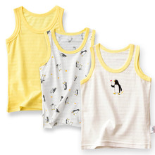 T-Shirts Boys Sleeveless Tops Kids Cotton Children's Cartoon Plane 4086 02 Vests Tanks