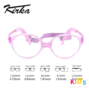 Image 4 - Kirka crianças óculos quadro flexível roxo cor óculos de olho moda crianças quadros para meninas óculos ópticos