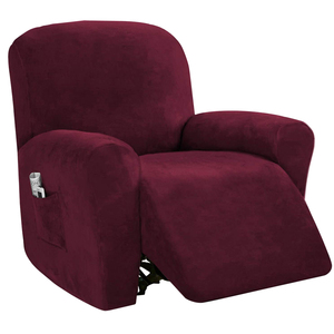 Slipcover Solid Sofa Home Decor Soft Recliner Chair Cover Furniture Protection Multifunction For Living Room Non Slip Washable