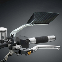 Motorrad seite spiegel Aluminium CNC Rück Seite Spiegel Universal Für Honda 125 250 300 cb 400 nmax 155 benelli tnt 125